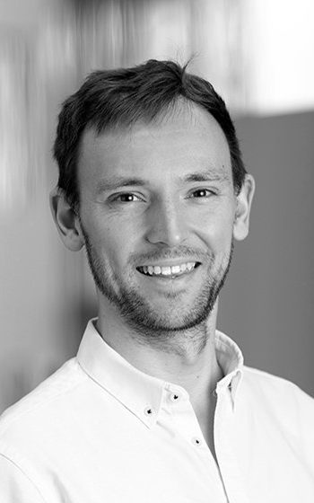Black and white portrait image of Ben Reeve